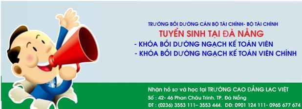 Trường Cao đẳng Lạc Việt tuyển sinh ngạch kế toán viên năm 2019